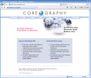2008 Coreography Web Site
