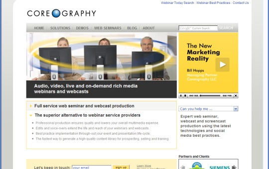 Coreography launches new site